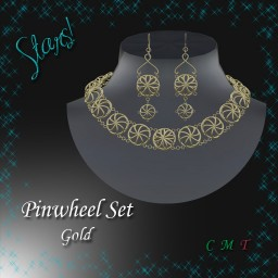 Includes necklace and earrings.
