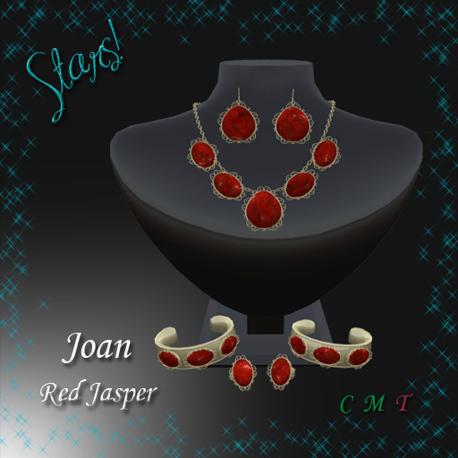 Joan Complete Set (Red Jasper)This set would also go very well with both formal and casual Christmas attire.
