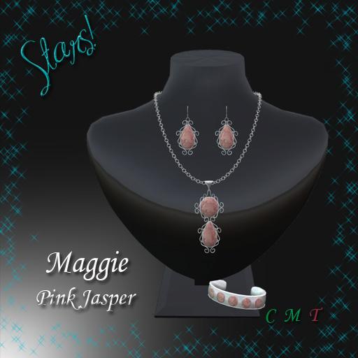 Maggie Complete Set (Pink Jasper)