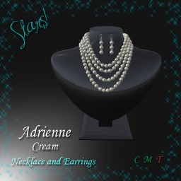 Adrienne Necklace & Earrings cream