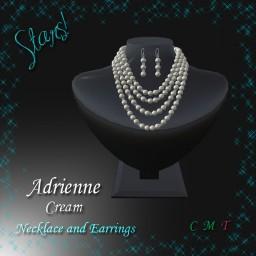 Adrienne Necklace & Earrings cream