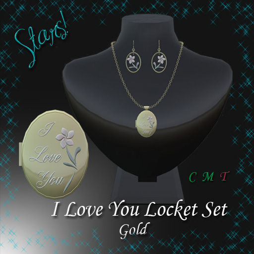 I Love You Locket Set (Gold)