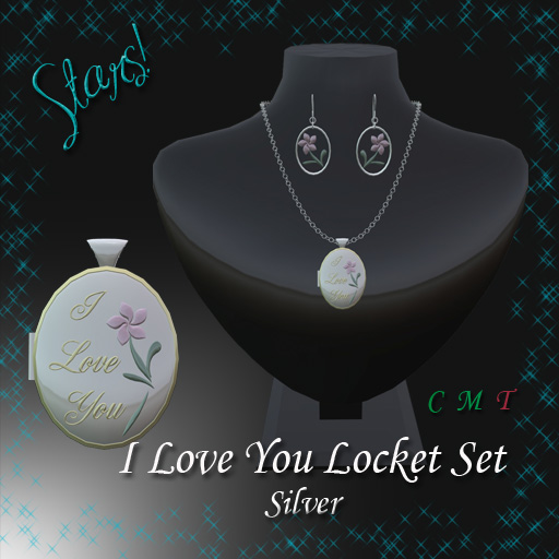 I Love You Locket Set (Silver)
