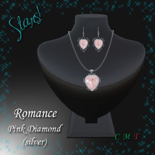 Romance Set (pink diamond set in silver)