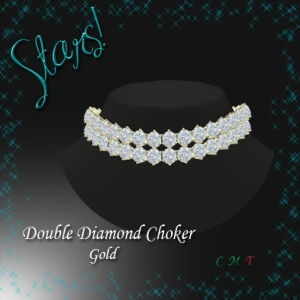 Double Diamond Choker (Gold)